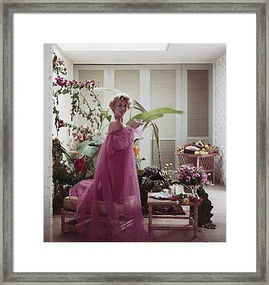 Eva Gabor Framed Print by Slim Aarons