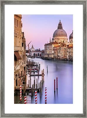 Evening Light In Venice Framed Print