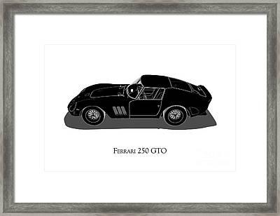 Ferrari 250 Gto - Side View Framed Print