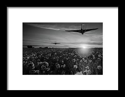 Nuclear Bomber Framed Prints