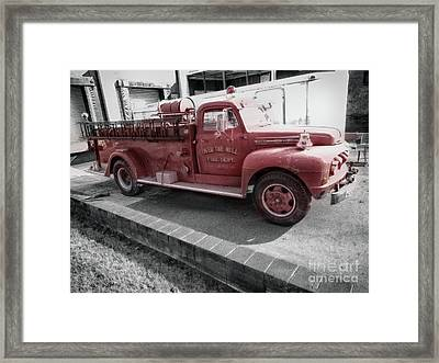Fire Over The Hill  Framed Print by Steven Digman