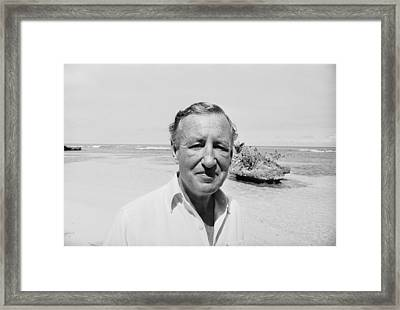 Fleming In Jamaica Framed Print by Harry Benson
