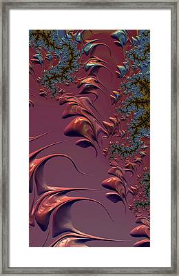 Framed Print featuring the digital art Fractal Playground In Pink by Shelli Fitzpatrick