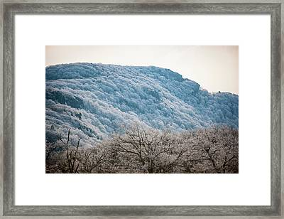 Frost On The Mountain Framed Print