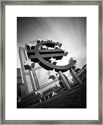 Germany, Hesse, Frankfurt, View Of Framed Print by Westend61