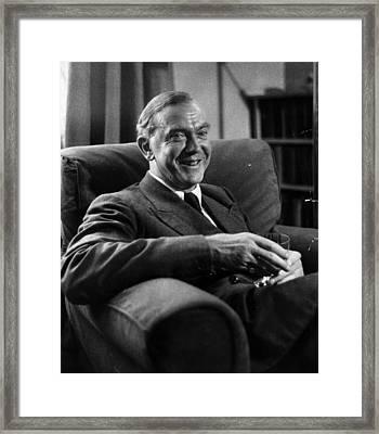 Graham Greene Framed Print by Kurt Hutton