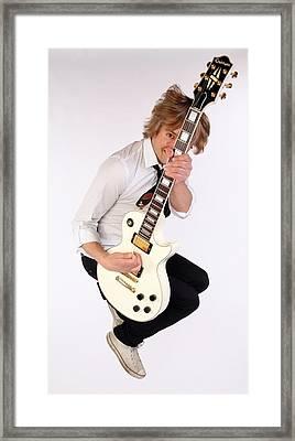 Guitarist Dave Tirio Framed Print by Jim Steinfeldt