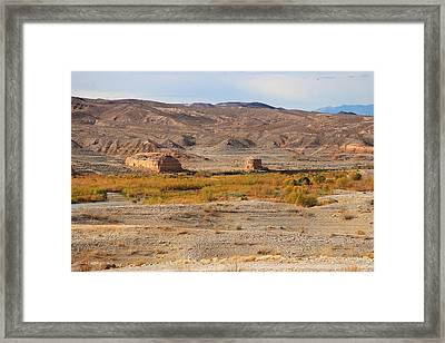 Gypsum Wash Framed Print