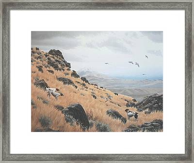 Framed Print featuring the painting High Desert Dreams by Peter Mathios