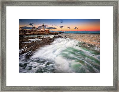Framed Print featuring the photograph High Tide At Dusk by Rick Berk