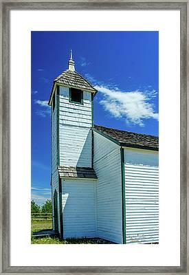 Historic Mcdougall Church, Morley, Alberta, Canada Framed Print