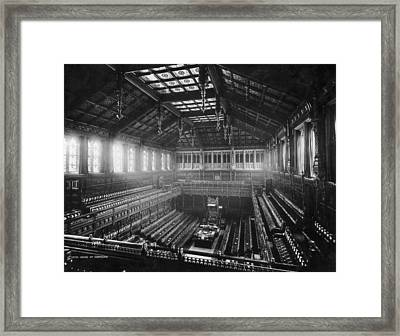 House Of Commons Framed Print by London Stereoscopic Company