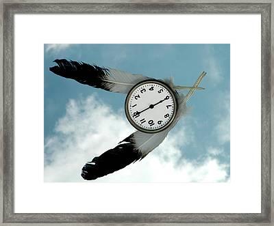 How Time Flies Framed Print