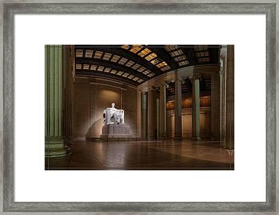 Inside The Lincoln Memorial - Custom Size Framed Print
