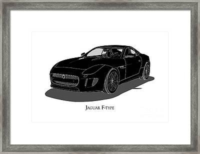Jaguar F-type - Front View Framed Print