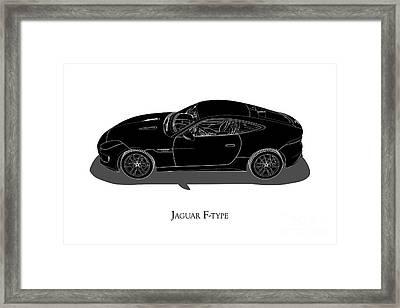 Jaguar F-type - Side View Framed Print