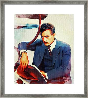 James Dean, Movie Star Framed Print