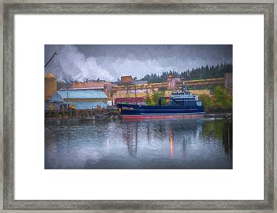 Framed Print featuring the photograph Kiska Sea In Port by Bill Posner