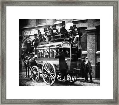 Knifeboard Bus Framed Print by London Stereoscopic Company