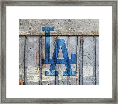 La Dodgers Framed Print