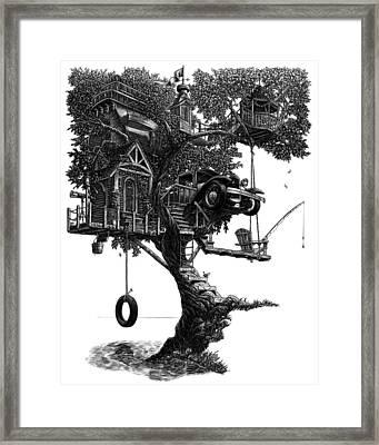 Lake Front Dream House Framed Print