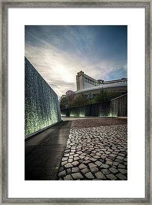 Framed Print featuring the photograph Las Vegas Nevada City Scenery On Sunny Day by Alex Grichenko