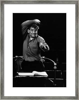 Leonard Bernstein Framed Print by Erich Auerbach