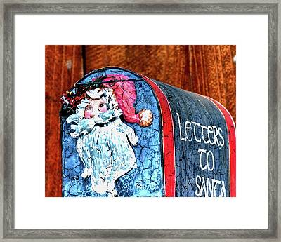 Framed Print featuring the photograph Letters To Santa 20537 by Jerry Sodorff