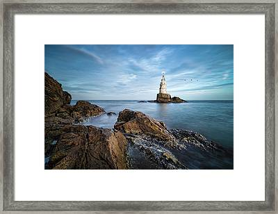 Lighthouse In Ahtopol, Bulgaria Framed Print