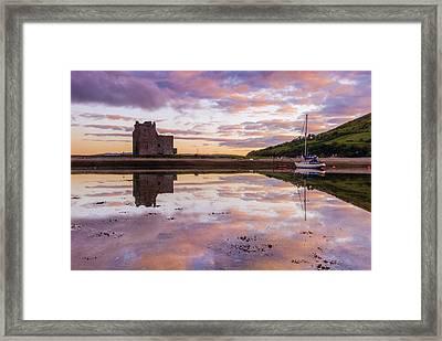 Lochranza Castle, Arran Framed Print by David Ross