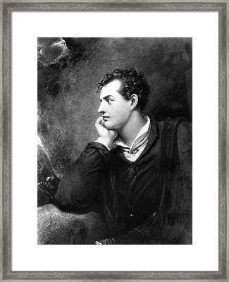 Lord Byron Framed Print by Hulton Archive