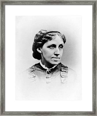 Louisa May Alcott Framed Print by Hulton Archive
