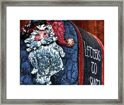 Framed Print featuring the photograph Mail To Santa 20534 by Jerry Sodorff