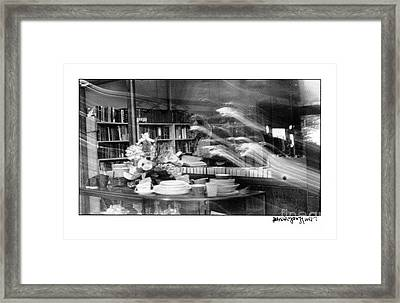 Framed Print featuring the photograph Man At Book Store by Patricia Youngquist