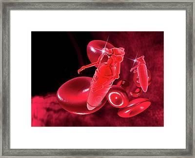 Medical Nanobots, Artwork Framed Print by Victor Habbick Visions