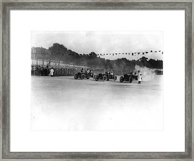 Motor Racing Framed Print by Topical Press Agency