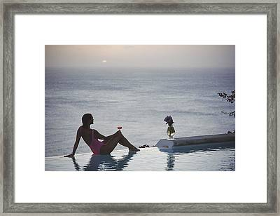 Mustique Tranquility Framed Print by Slim Aarons