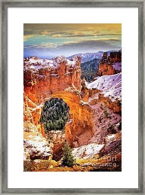 Framed Print featuring the photograph Natural Bridge by Scott Kemper