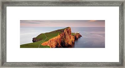 Framed Print featuring the photograph Neist Point Sunset - Isle Of Skye by Grant Glendinning