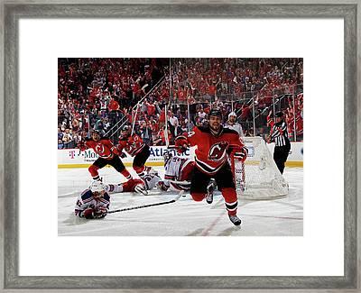 New York Rangers V New Jersey Devils - Framed Print