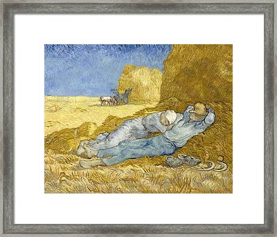 Noon - Rest From Work Framed Print