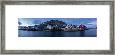 Norwegian Seaside Town Nyksund Framed Print