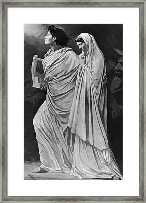 Orpheus And Eurydice Framed Print by Hulton Archive