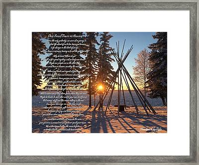 Our Small Town In Heaven Framed Print