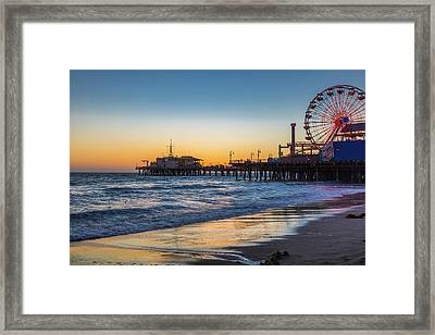 Pacific Park On The Pier Framed Print