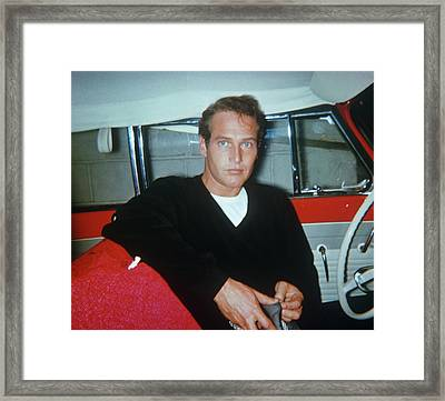 Paul Newman Framed Print by Art Zelin