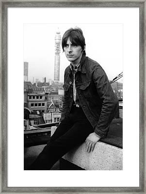 Paul Weller At Air Studios Framed Print