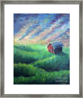 Framed Print featuring the painting Peace by Lisa DuBois