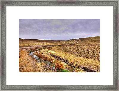 Framed Print featuring the photograph Plowed Under by David Patterson