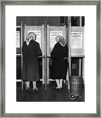 Polling Day Framed Print by Keystone
